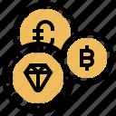 cash, exchange, litecoin, monetary, tokens icon