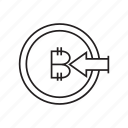 bitcoin, coin, cryptocurrency, finance, inbound, money, transaction icon