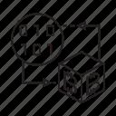 binary, bitcoin, blockchain, box, cryptocurrency, cube, digital currency icon