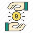 bitcoin, exchange, investment, payment, transaction icon