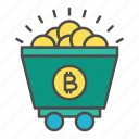 bitcoin, crypto, cryptocurrency, investment, mining icon