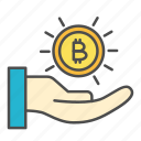 bitcoin, crypto, cryptocurrency, investment, payment icon