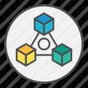 block, blockchain, network, p2p, peer to peer icon