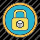 block, blockchain, lock, protection, security icon