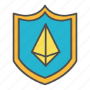 crypto, ethereum, protection, security, shield icon