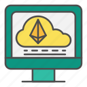 cloud, computer, crypto, online, website icon