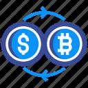 bitcoin, concept, dollar, exchange, finance, money, transfer icon