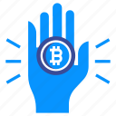 bitcoin, cash, cryptocurrency, money, pay, payment, virtual icon