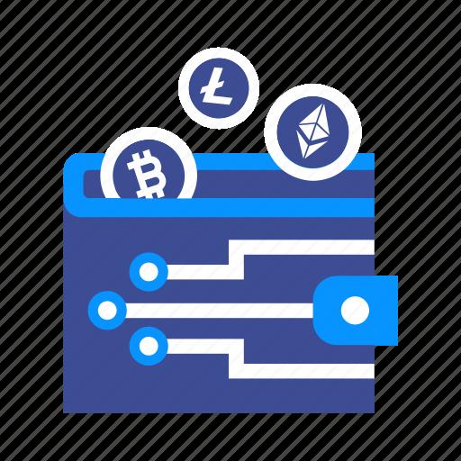Bitcoin Cash Cryptocurrency Digital E Wallet Virtual Icon