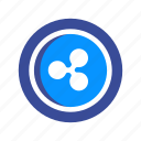 coin, cryptocurrency, currency, digital, electronic, mining, ripple icon