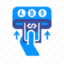 cash, credit, dollar, money, replenish, replenishment, transfer icon