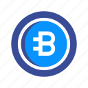 bytecoin, crypto, cryptocurrency, digital, mining, money, virtual icon