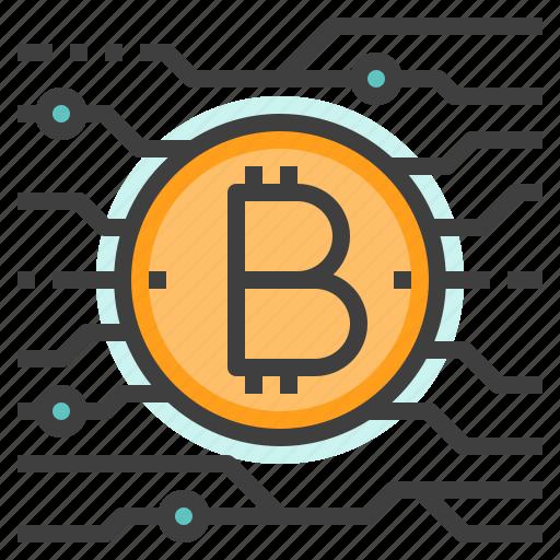 bitcoin, btc, cryptocurrency, digital, money icon