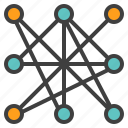 blockchain, cloud, connection, distributed, network, technology icon