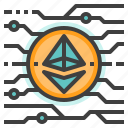 cryptocurrency, digital, eth, ether, ethereum, money icon