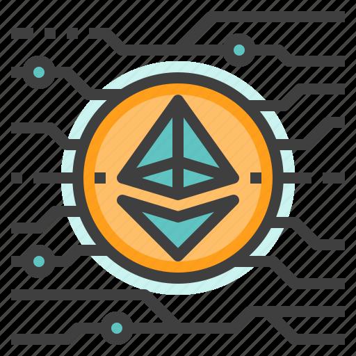cryptocurrency, digital, eth, ether, ethereum, money icon