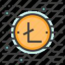 blockchain, cryptocurrency, digital, litecoin, mining, money icon