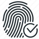 cryptographic, cryptographic signature, fingerprint, signature icon
