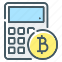 bitcoin, bitcoin calculator, calculator, cryptocurrency icon
