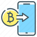 bitcoin, cryptocurrency, money, money transfer, transfer icon