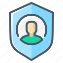 private, protection, secure, shield icon