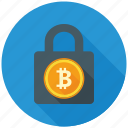 bitcoin, blockchain, cryptocurrency, decentralized, encryption, mining, security icon