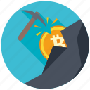 bitcoin, coin, cryptocurrency, currency, decentralized, mining icon