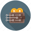crypto, cryptocurrency, currency, decentralized, mining, money, wallet icon