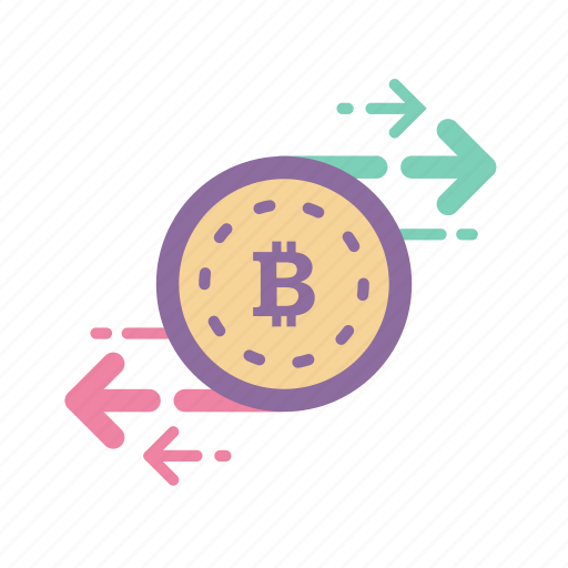 bitcoin, blockchain, currency, digital, exchange, money, secure icon