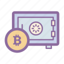 bitcoin, blockchain, digital, password, safe, secure, wallet icon