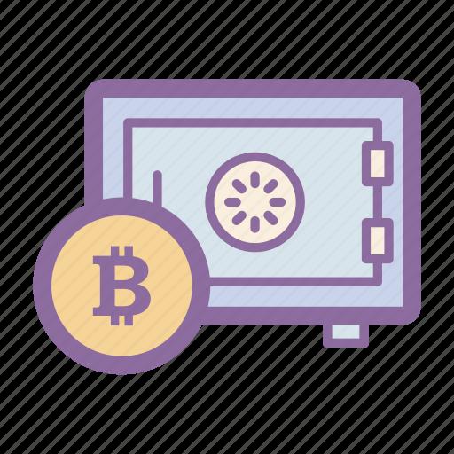 bitcoin, blockchain, digital, password, safe, secure, wallet icon
