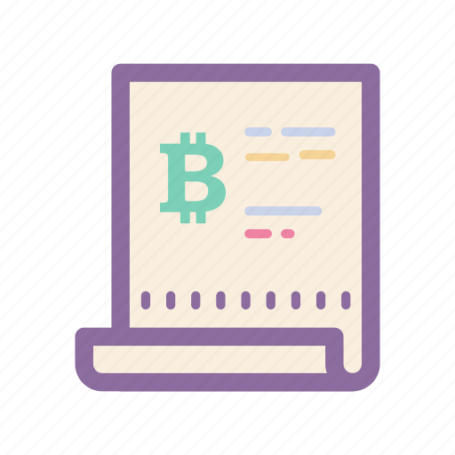 bill, bitcoin, cryptocurrency, digital, ecommerce, payment, reciept icon