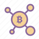 bitcoin, blockchain, cryptocurrency, money, wallet icon