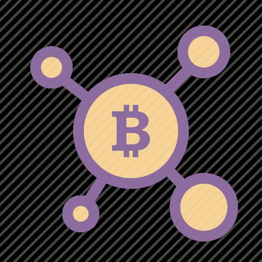 bitcoin, blockchain, cryptocurrency, money, wallet icon