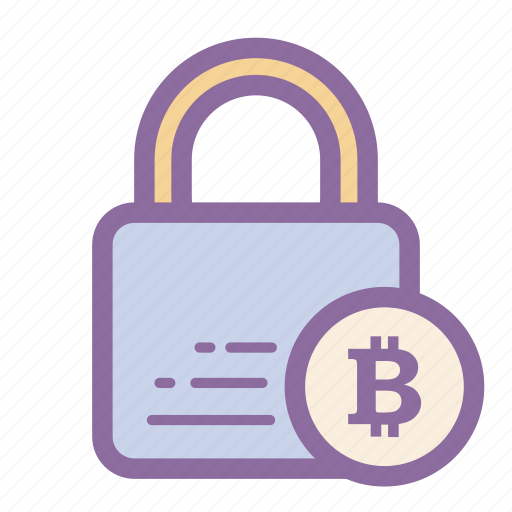 bitcoin, blockchain, cryptocurrency, finance, locked, safe, secure icon