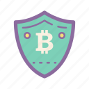 bitcoin, blockchain, cryptocurrency, firewall, secure, sheild icon
