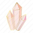 crystal, gemstone, jewel, precious icon