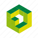 box, cubes, design, elements, logo, tool, web icon