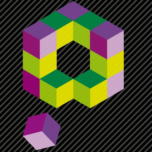 box, cube, cubesbox, design, elements, tool, web icon