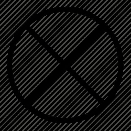 circle, close, target2, x icon