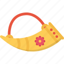 country, culture, history, horn, people, tradition icon