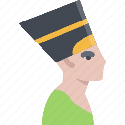country, culture, history, nefertiti, people, tradition icon