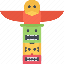 country, culture, history, people, pole, totem, tradition icon