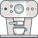 brewed coffee, coffee, coffee machine, coffeemaker, espresso, espresso machine icon