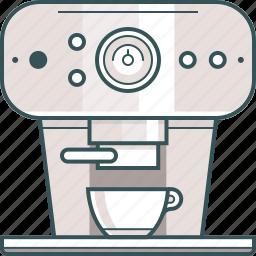 brewed coffee, coffee, coffee machine, coffeemaker, espresso, espresso machine icon