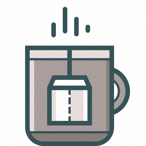 bag, coffee, coffee cup, cup, hot, tea icon