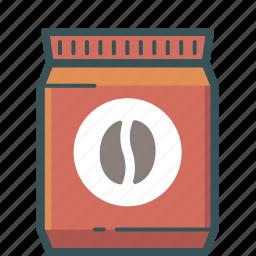 brewed coffee, coffee, coffee bag, coffee bean, espresso, ground coffee icon