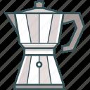 brewed coffee, coffee, coffee kettle, coffee pot, coffeemaker, espresso, moka pot