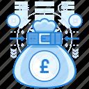bag, british, currencies, finance, pound