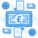 british, cash, currencies, finance, pound icon